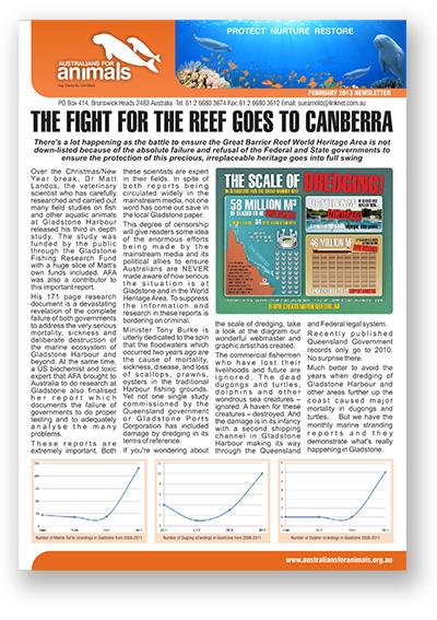 Australians for Animals Jan 2013 Newsletter